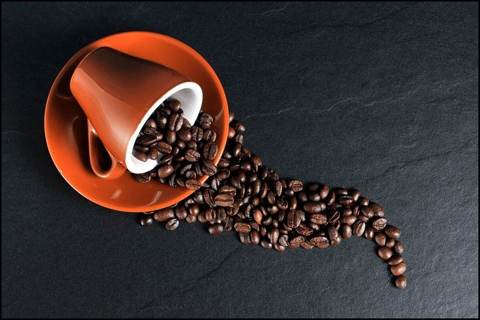 Coffee-cup-coffee-beans-photo
