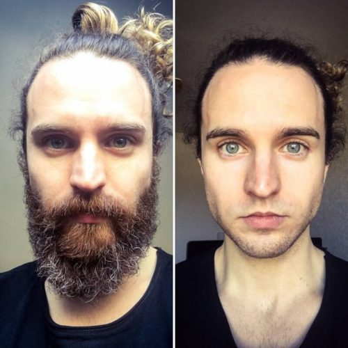with-and-without-beard-change-photo